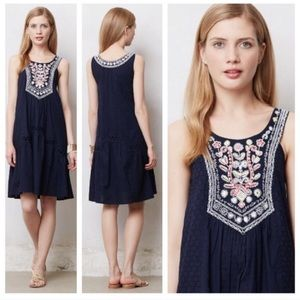 Maeve by Anthropology | Navy Tisa Swing Dress